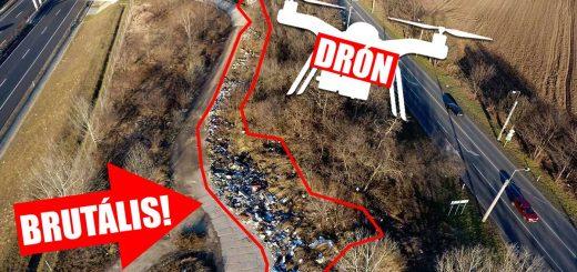 Brutális hulladékhegyek egy drón szemével